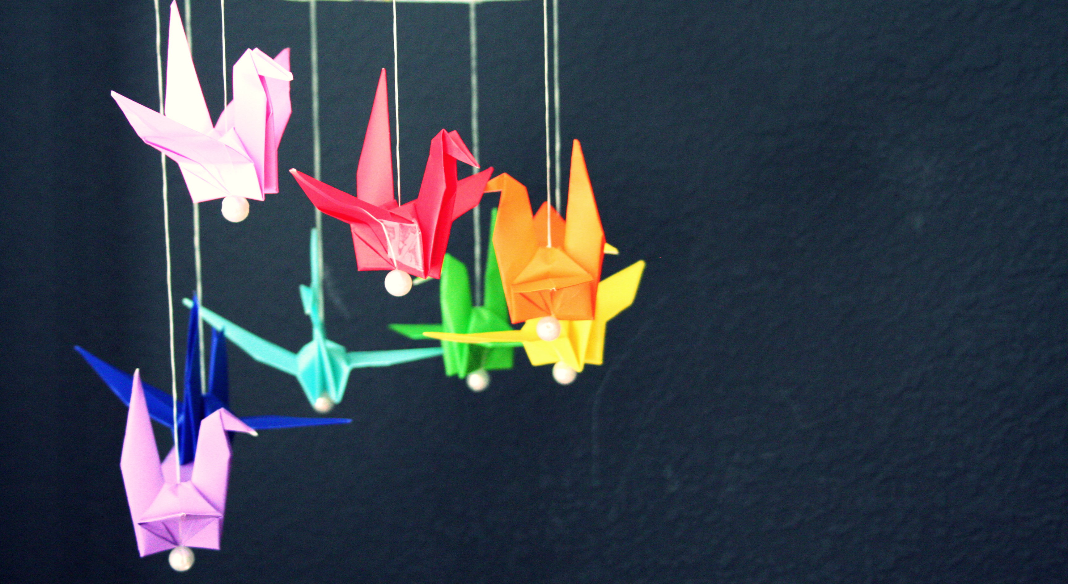 How to: Origami Crane Mobile | madpimp.com - photo#12